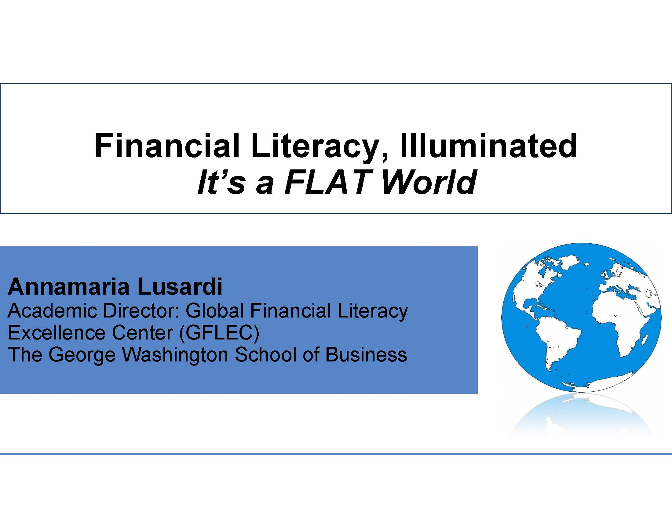 financial literacy essay